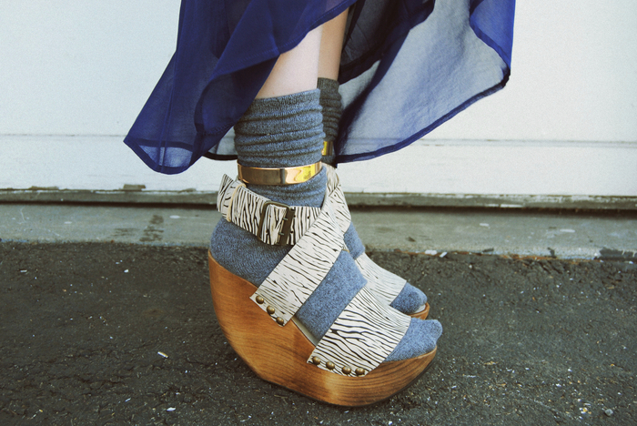 what-do-i-wear: Minimarket wedges c/o PLNDR;  c/o Backstage ankle cuffs (image: devorelebeaumonstre)