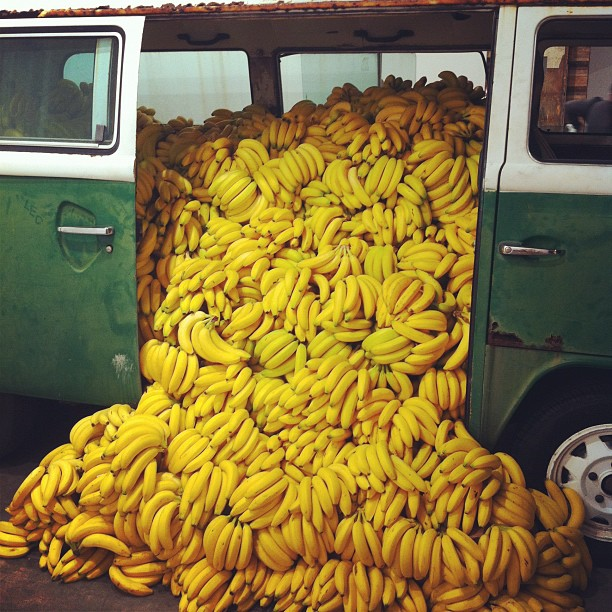 Ahhhhhhh bananas!!!!     artruby :     Paulo Nazareth at Art Positions #artbasel (Taken with  instagram )