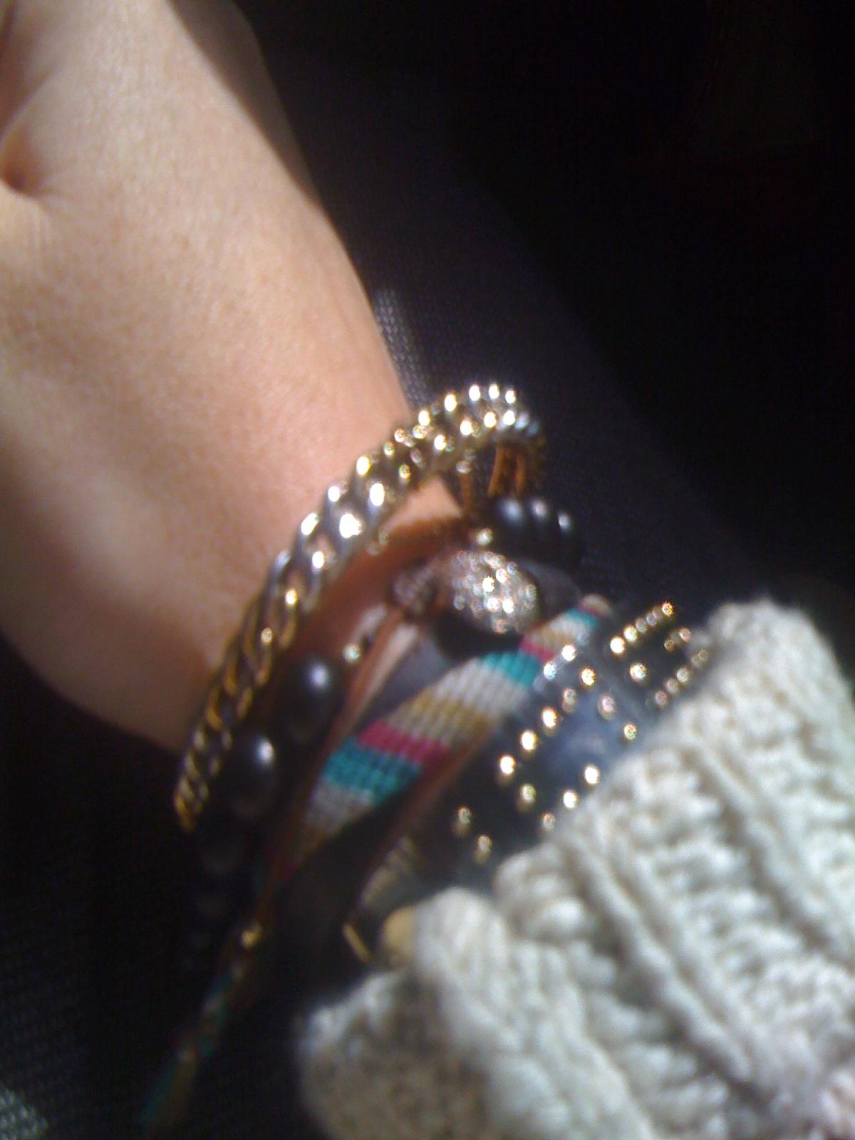 Love me some bracelets.
