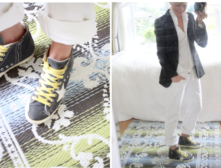 My favorite Golden Goose sneakers on  Tiffany Wendel . I always admire her casual chic style.
