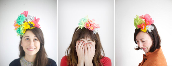 DIY floral party hats from Oh Happy Day.