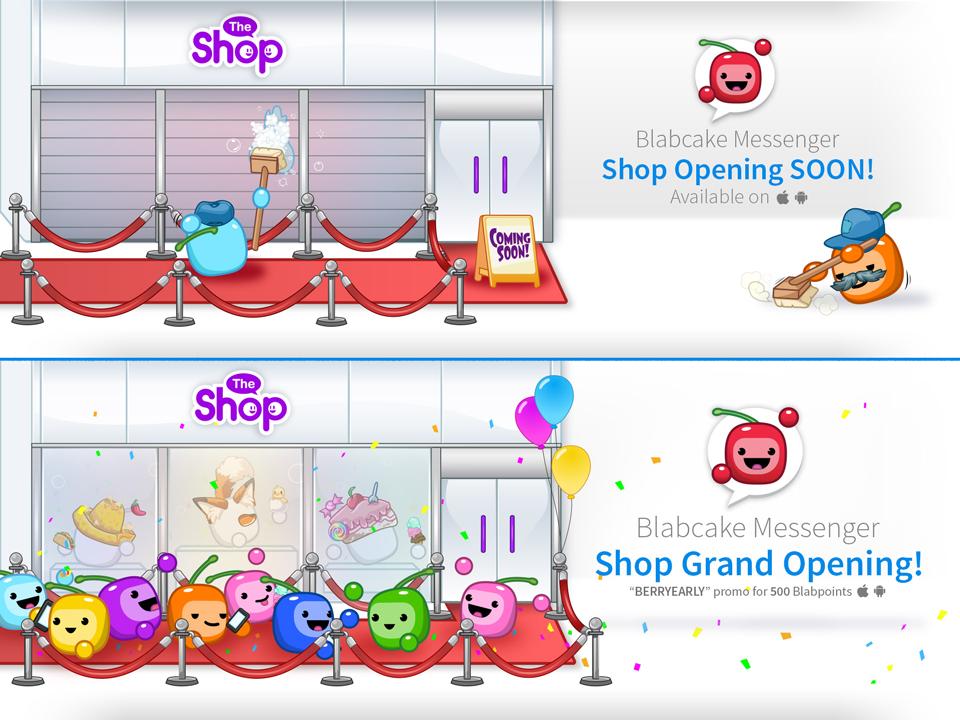 Shop promo for social media