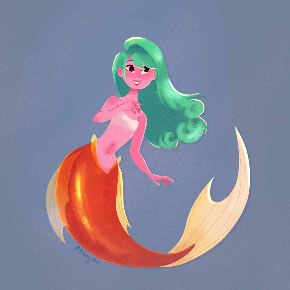 Orange Mermaid