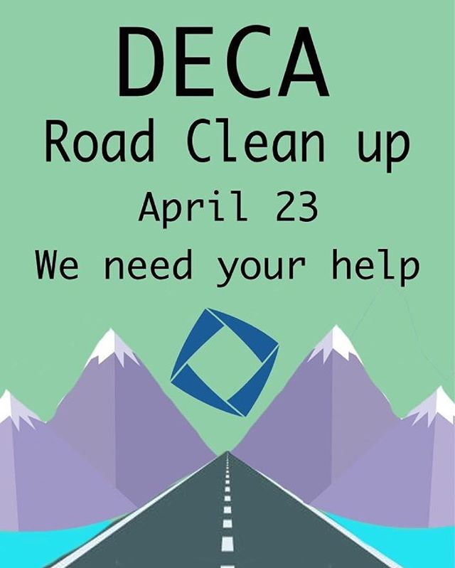 DECA MEMBERS!!! Road cleanup April 23!!! Sign up on schoology to get your required community service hours!!!