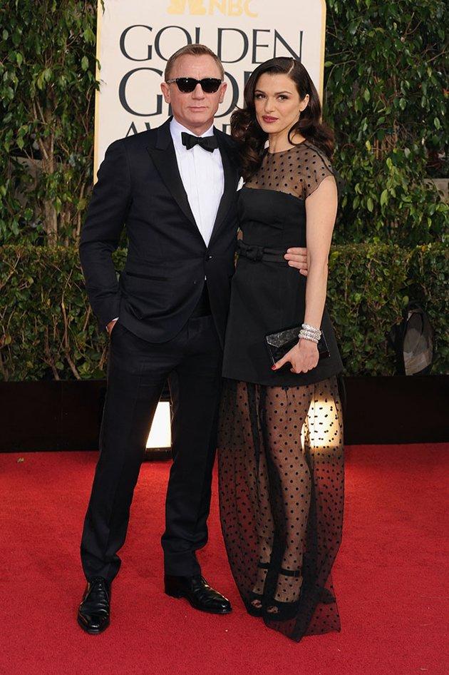 Daniel Craig. O que comentar sobre o smoking do James Bond? Uma escolha discretamente inteligente, uma vez que a estrela da noite era a namorada Rachel Weisz - indicada ao prêmio de melhor atriz de drama. Com um smoking 'quase preto', Craig estava estiloso sem ofuscar a companheira.