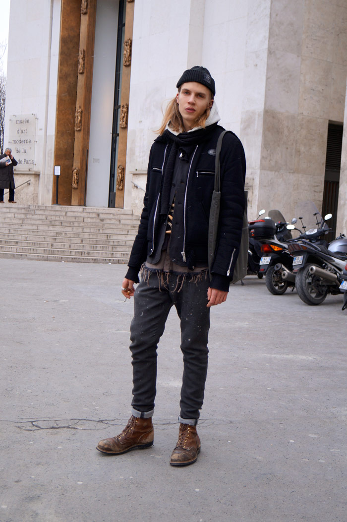paris_mens_fashion_week_fw13_crystal_nicodemus_black_layers_blonde_hair.jpg