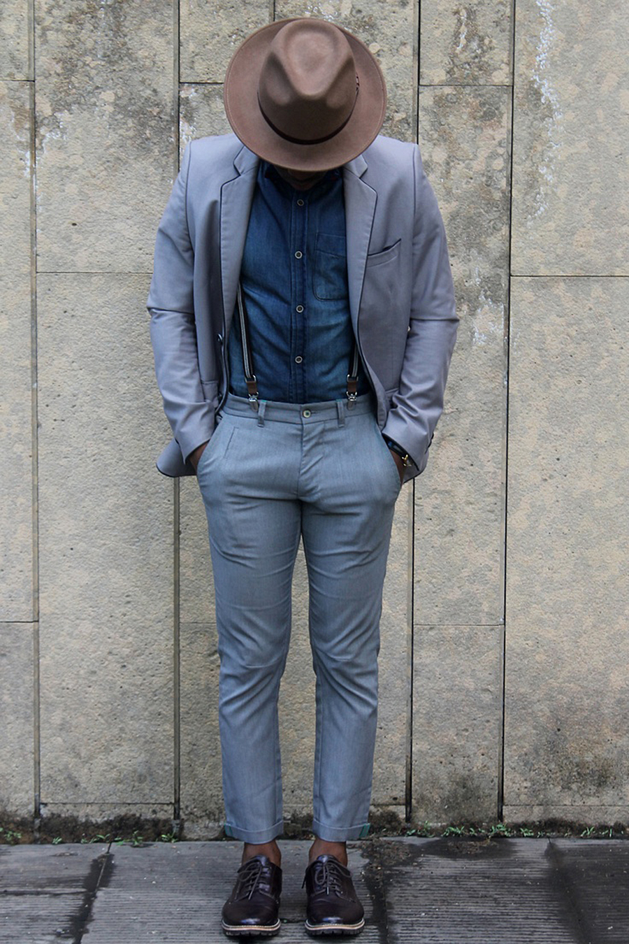 grey-suit-×-denim-shirt-×-brown-hat-menswear.jpg