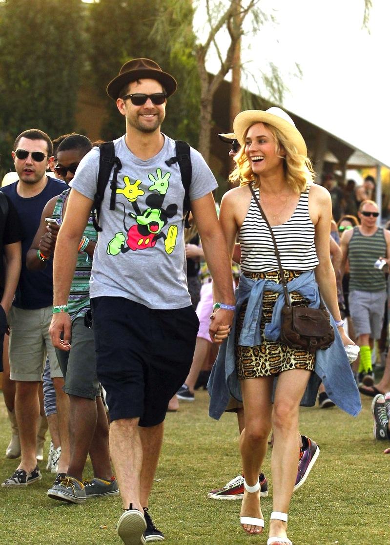 O sempre elegante casal Joshua Jackson e Diane Kruger.