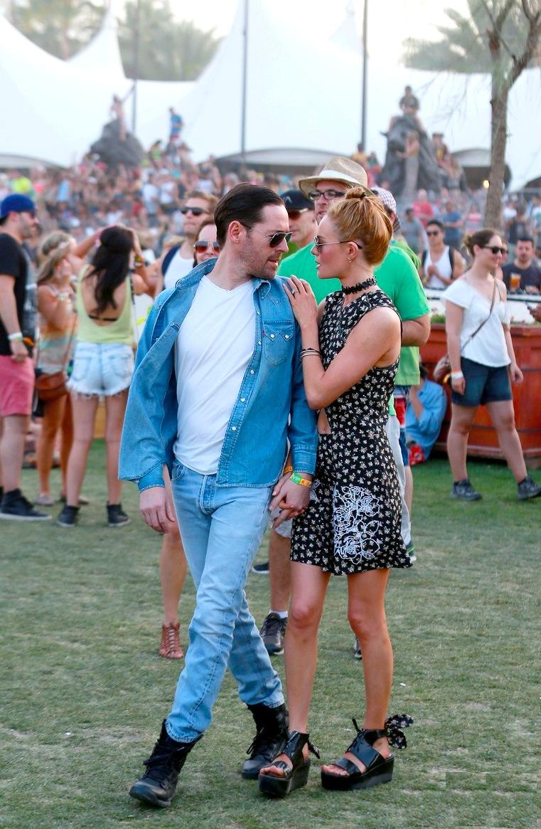 Outro casal que marcou presença mais uma vez no Coachella e no Moda Pra Homem foi  Kate Bosworth e Michael Polish .