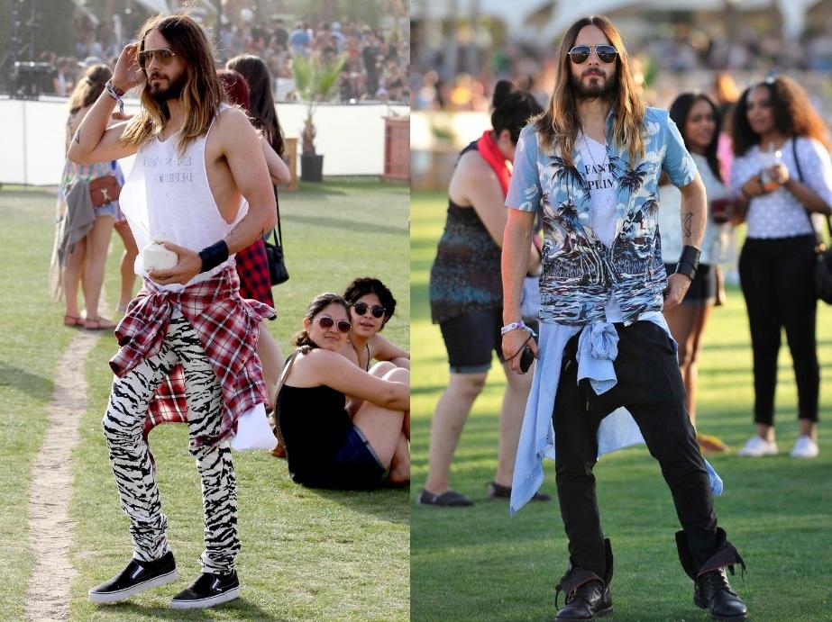 Para finalizar, não podemos esquecer de Jared Leto. Mais extravagante impossível. Mas como já dissemos: ok, é o Coachella, Ok, é o Jared Leto.
