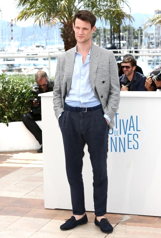 """Com passagem elogiada por  aqui ,Matt Smith foi um dos destaques dos 20 dias de festival. Além de ser dirigido por Ryan Gosling em """"Lost River"""" (exibido por lá), o ator ainda desferiu um figurino caprichado."""
