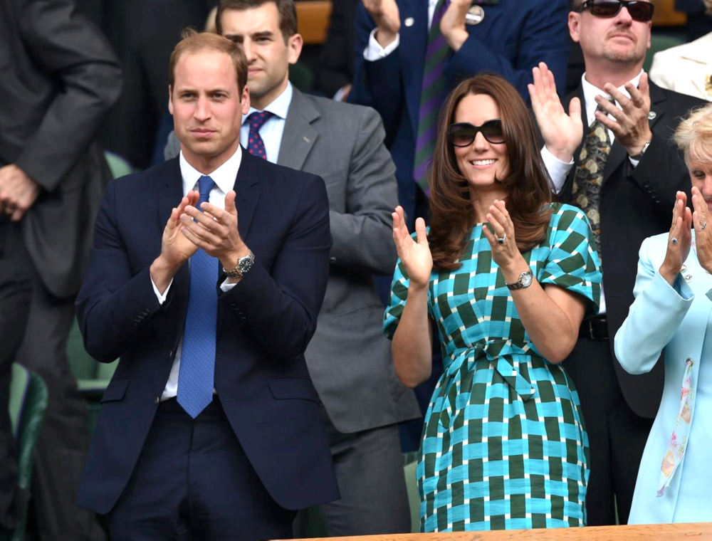 O casal real William e Kate.