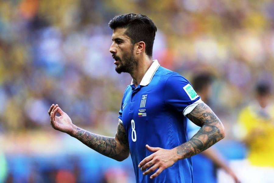 Panagiotis Kone - Grécia  Outro que arrancou aplausos pelo seu bom gosto no corte de cabelo, barba e tatuagens. Mesmo assim, Kone viu a sua seleção sucumbir na frente da Costa Rica na decisão de penaltis.