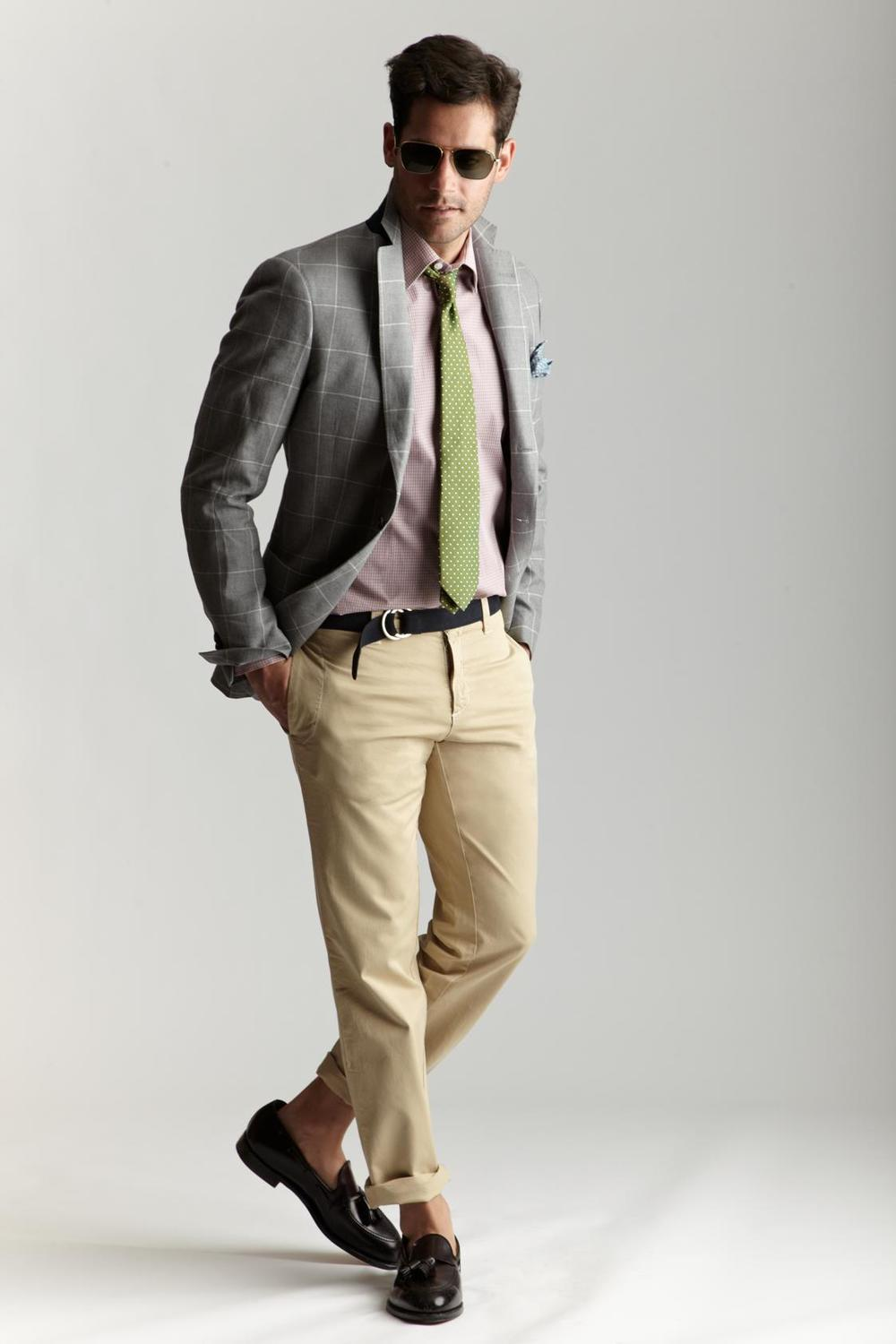 Michael-Bastian-x-Barneys-SS12-green-tie-men-windowpane-grey-jacket-beige-trousers-sockless.jpg