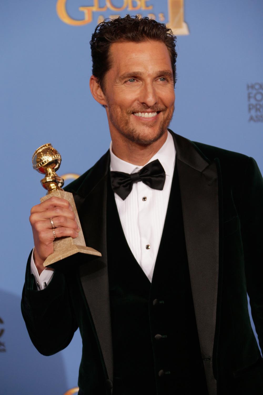 """9 - Matthew McConaughey. Se em 2014, Pirlo foi o destaque do ramo esportivo, Matthew McConaughey foi o destaque do cinema. Sua atuação em """"O Clube de Compras Dallas"""" catapultou a sua carreira de forma frenética, coroando-o com os principais prêmios do cinema no ano."""