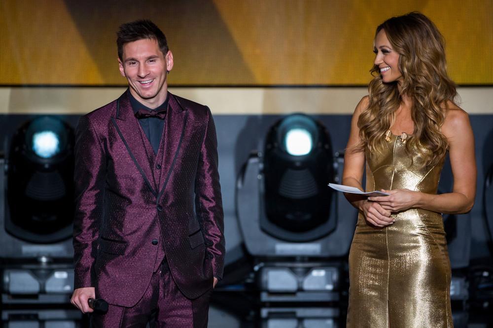 Tão famoso por seus ternos espalhafatosos quanto pelas suas jogadas celestiais, Lionel Messi pisou na bola mais uma vez. Brilho excessivo e tons nada discretos colocaram o argentino mais uma vez na lista dos piores da noite.