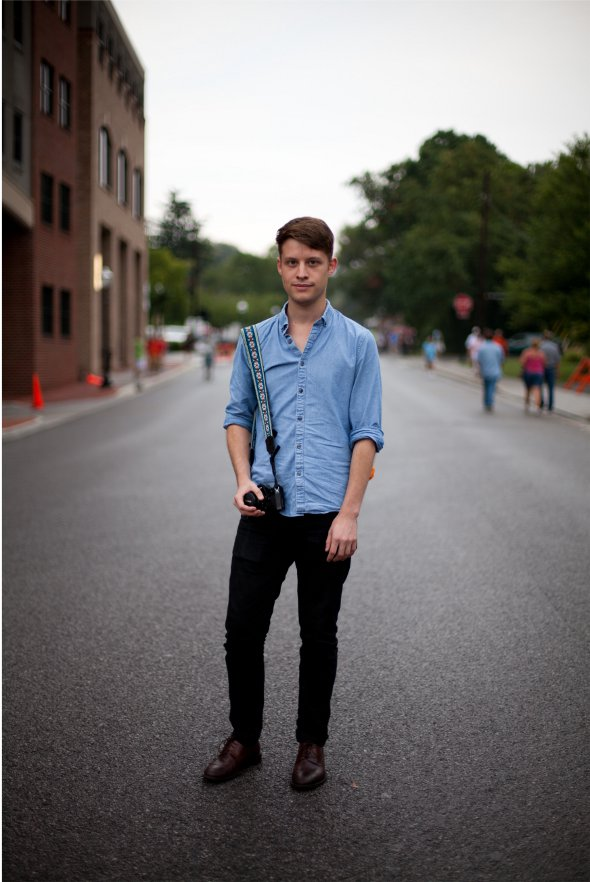 chambary shirt with black denim and brown dress shoes mens street style fashion in virginia sept 2012 .jpg