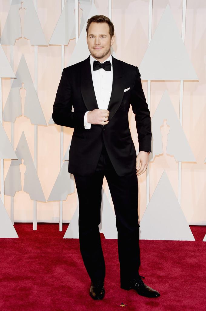 Outro Chris que se destacou na noite do Oscar foi o já  referência pra homem ,Chris Pratt. Apostando na simplicidade e no clássico, o rapaz mostrou porque é um dos atores mais badalados do momento. Carisma, bom humor e claro, muita atenção para o figurino.