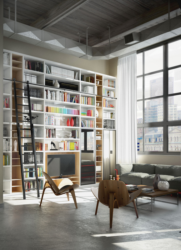 elegant-style-in-design-cool-palette-with-bright-accents-in-storage-library-concrete-floor-and-high-ceilings.jpg