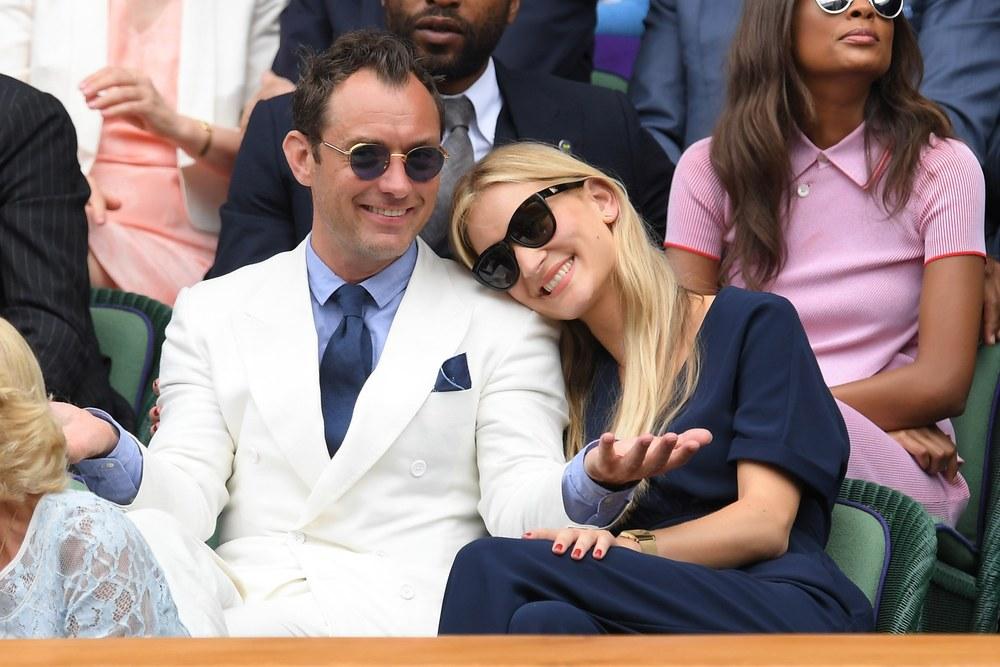 Jude Law e a namorada Pillipa Coan