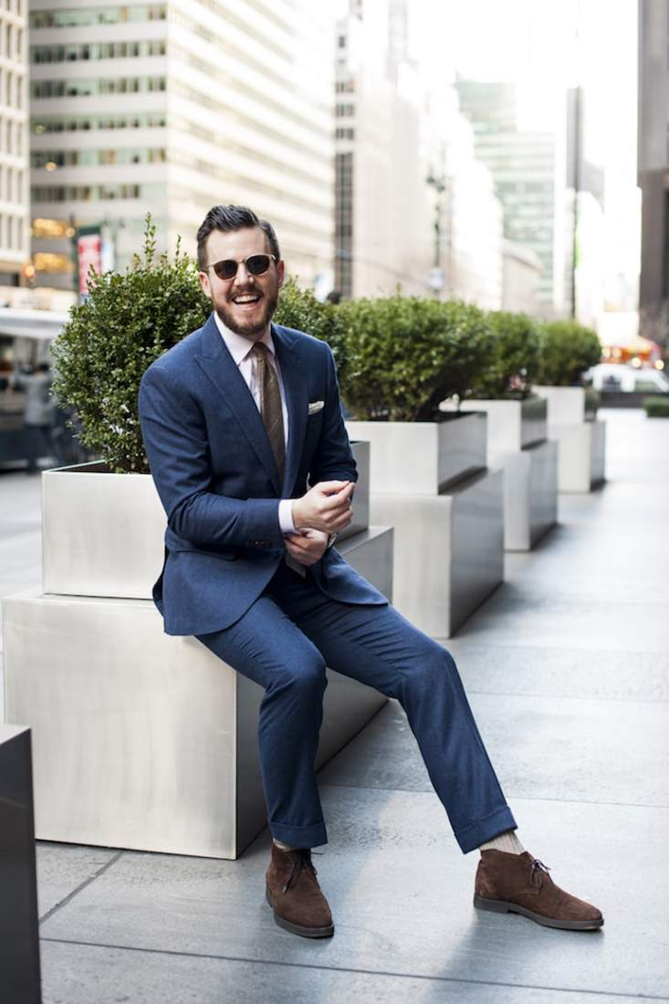 mens-street-style-navy-suit-white-shirt-brown-desert-boots-sunglasses-min-733x1100.jpg