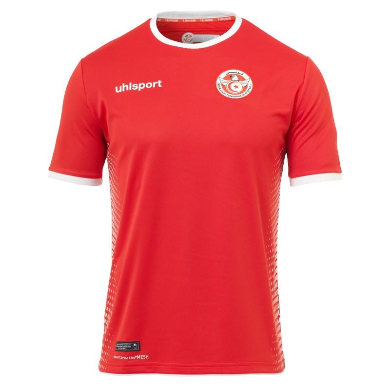 Tunísia - reserva Outra que não abusou dos detalhes na hora de criar o uniforme. Com uma estampa branca em degradê apenas na lateral, a camisa acaba se diferenciando um pouco das demais.