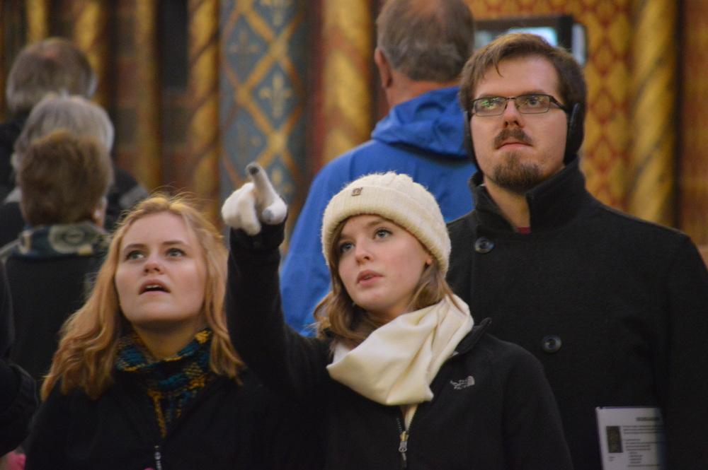 Emilie Bob Jack at Ste Chapelle.JPG