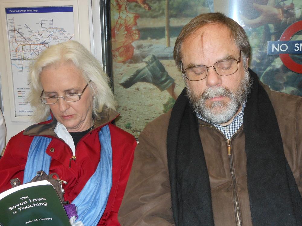 Christine and JMH on Tube.JPG
