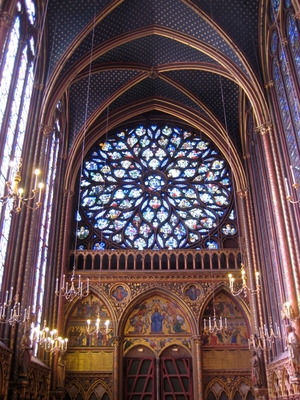 Rose window, Sainte-Chapelle, Paris