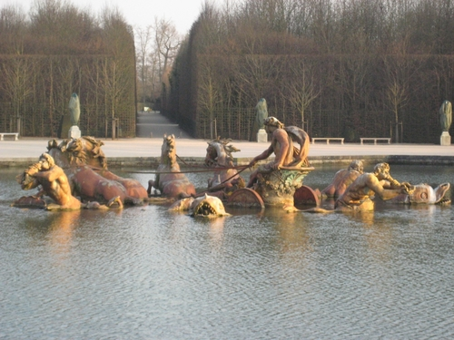 Fountain at Versailles, France