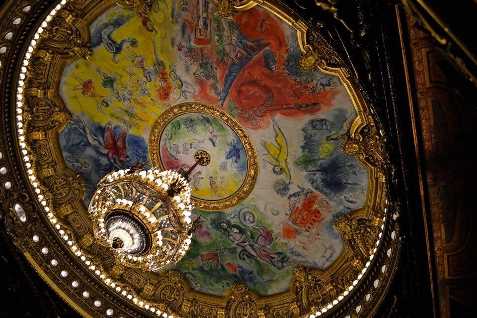 Chagall ceiling, Paris Opera Garner