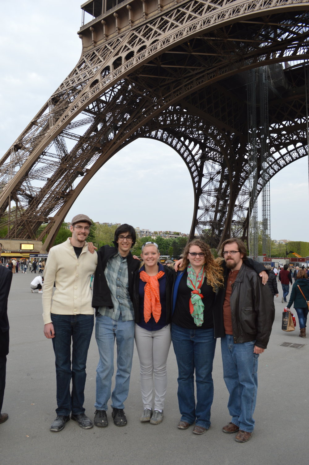 Students at Eiffel Tower