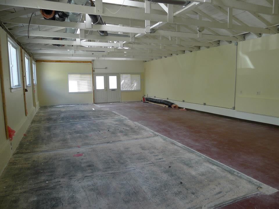 What our new building looked like when we got it.