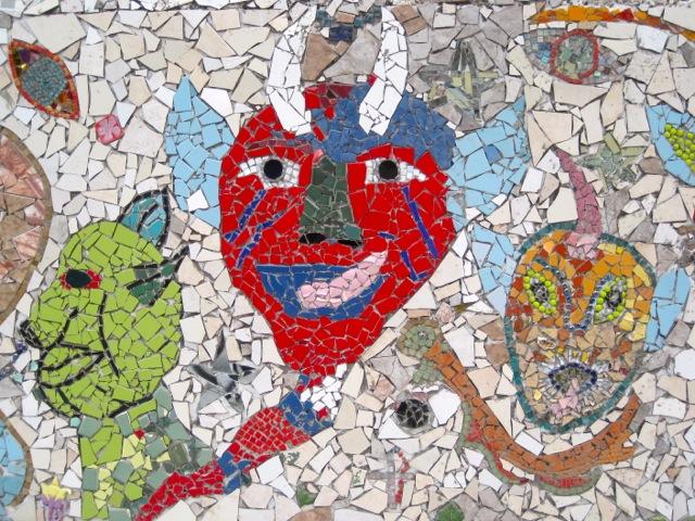 Detail of mural in Haiti