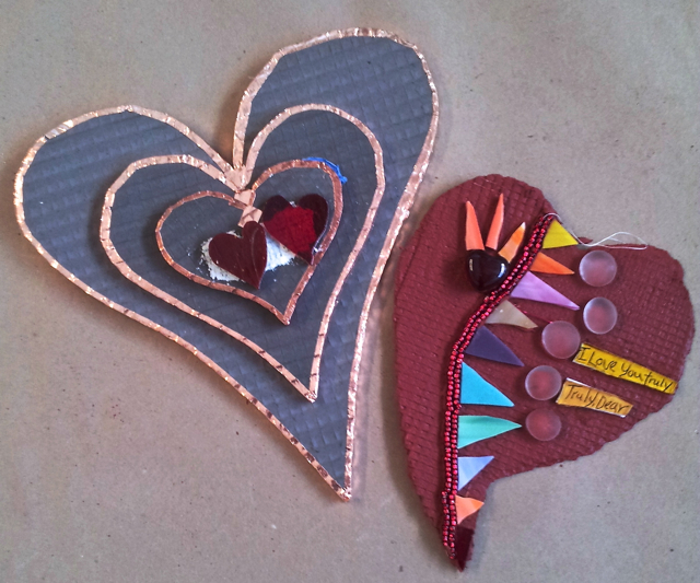 VALENTINE HEARTS CLASS - Hearts in progress