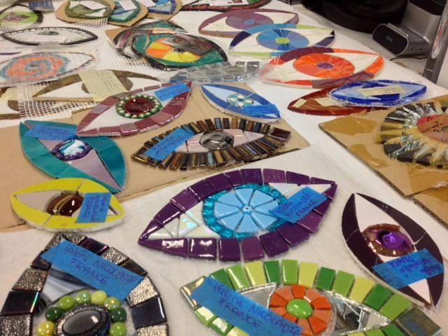 Mosaic Eyes created by participants across the globe!