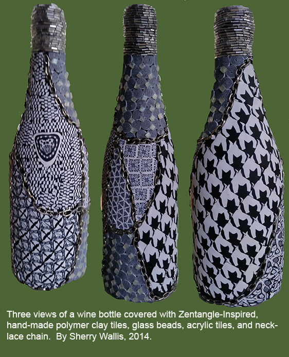 Sherry Wallis - Zentangle bottle