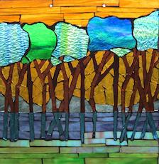 Glass on Glass Window Hanging Mosaic -   September 20-21