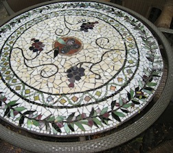 Mosaic table by class instructor Jill Stevenson Ritter