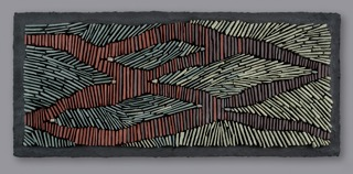 """Subterranean"" 2014  Slate, thinset, Wedi substrate"