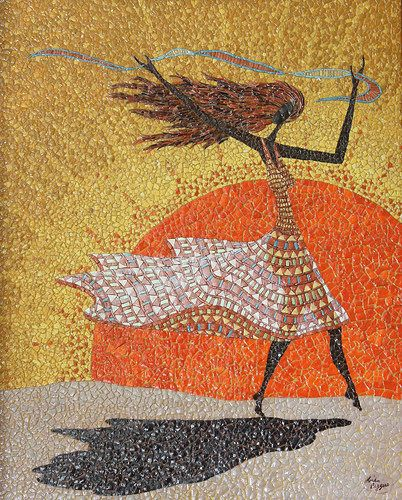 """Morning Breezes"" by Linda Biggers. Dance is a common theme for her work."