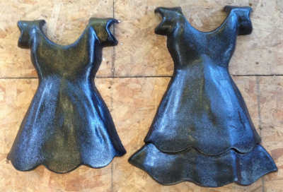 Unadorned dress forms by Susan Wechsler.
