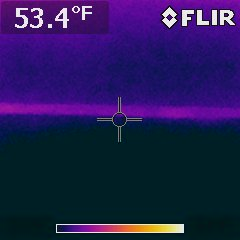 Thermal Image shows consistant color in motor bed