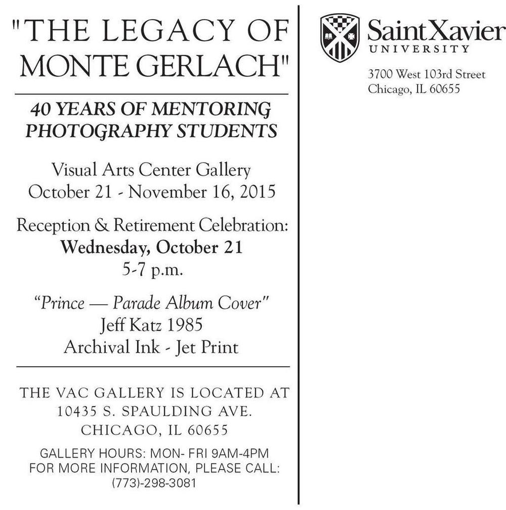 One of my snapshots is being shown at this gallery for photography professor Monte Gerlach's retirement celebration. I'll be there for the reception as well. I quoted Monte a few times in the  A Lesser Photographer book  and on a few podcasts.  He's the kind of photography teacher who taught you more about life as a photographer than pure technique, which always produces better photos and better photographers.
