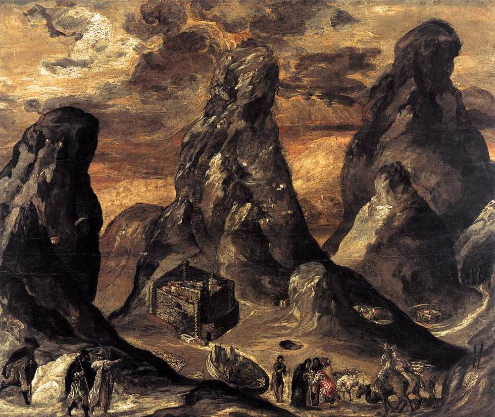 View of Mount Sinai and the Monastery of St. Catherine (c. 1570), El Greco