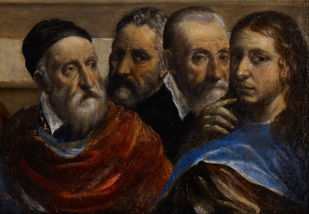 Christ Chasing the Moneychangers from the Temple (c. 1568; detail), El Greco