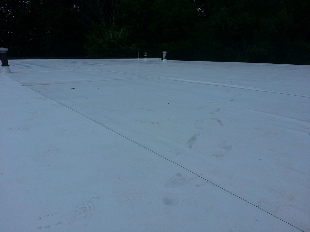 TPO Roof installation by Groundswell Contracting
