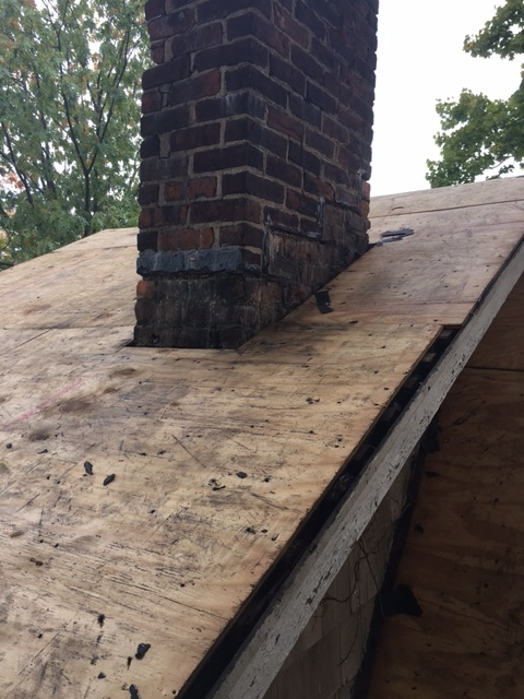 Roof during replacement by Groundswell Contracting