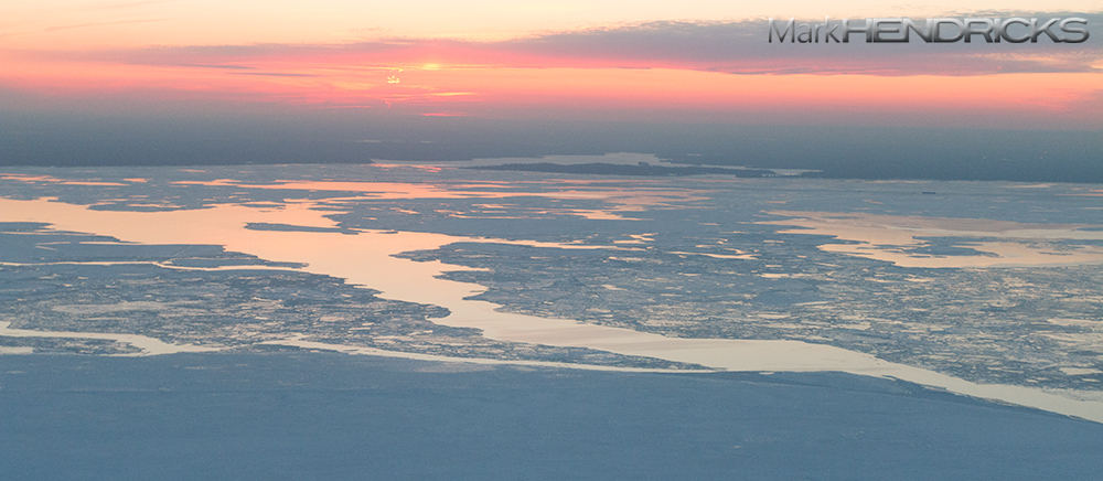 Ice Sheets along a frozen Chesapeake Bay