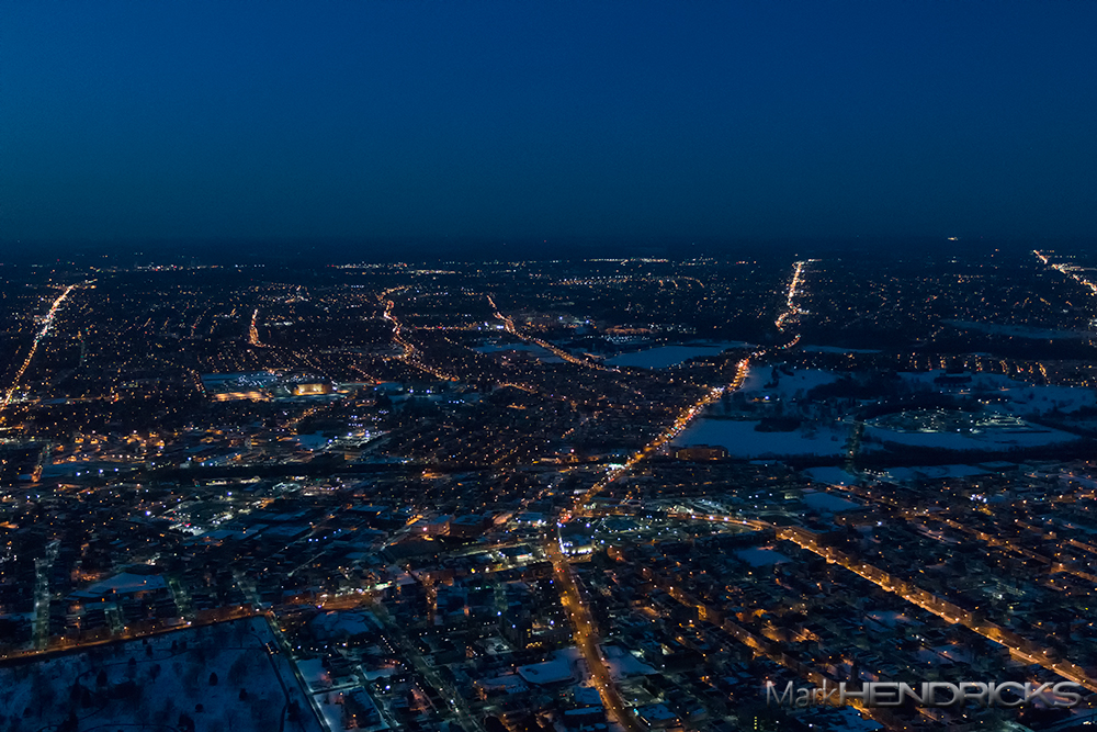 One of the most populated areas in the Chesapeake Bay Watershed, Baltimore, MD, at night